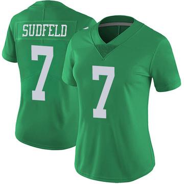 Women's Nike Philadelphia Eagles Nate Sudfeld Green Vapor Untouchable Jersey - Limited