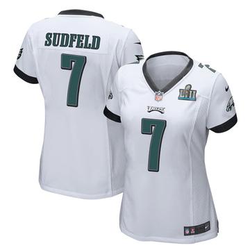 Women's Nike Philadelphia Eagles Nate Sudfeld White Super Bowl LII Jersey - Game