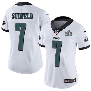 Women's Nike Philadelphia Eagles Nate Sudfeld White Super Bowl LII Vapor Untouchable Jersey - Limited