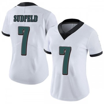 Women's Nike Philadelphia Eagles Nate Sudfeld White Vapor Untouchable Jersey - Limited