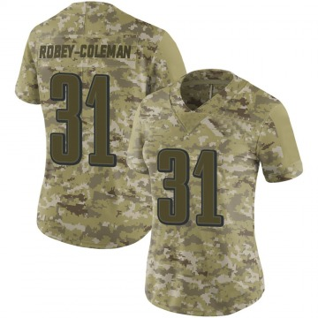 Women's Nike Philadelphia Eagles Nickell Robey-Coleman Camo 2018 Salute to Service Jersey - Limited