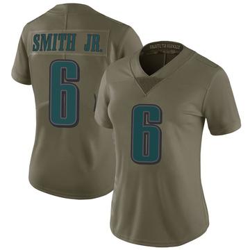 Women's Nike Philadelphia Eagles Prince Smith Jr. Green 2017 Salute to Service Jersey - Limited