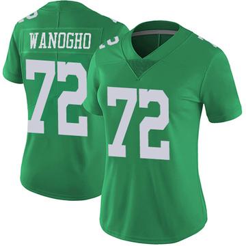 Women's Nike Philadelphia Eagles Prince Tega Wanogho Green Vapor Untouchable Jersey - Limited