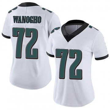Women's Nike Philadelphia Eagles Prince Tega Wanogho White Vapor Untouchable Jersey - Limited