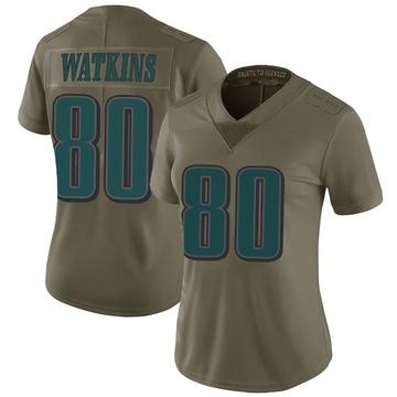 Women's Nike Philadelphia Eagles Quez Watkins Green 2017 Salute to Service Jersey - Limited