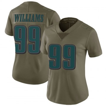 Women's Nike Philadelphia Eagles Raequan Williams Green 2017 Salute to Service Jersey - Limited
