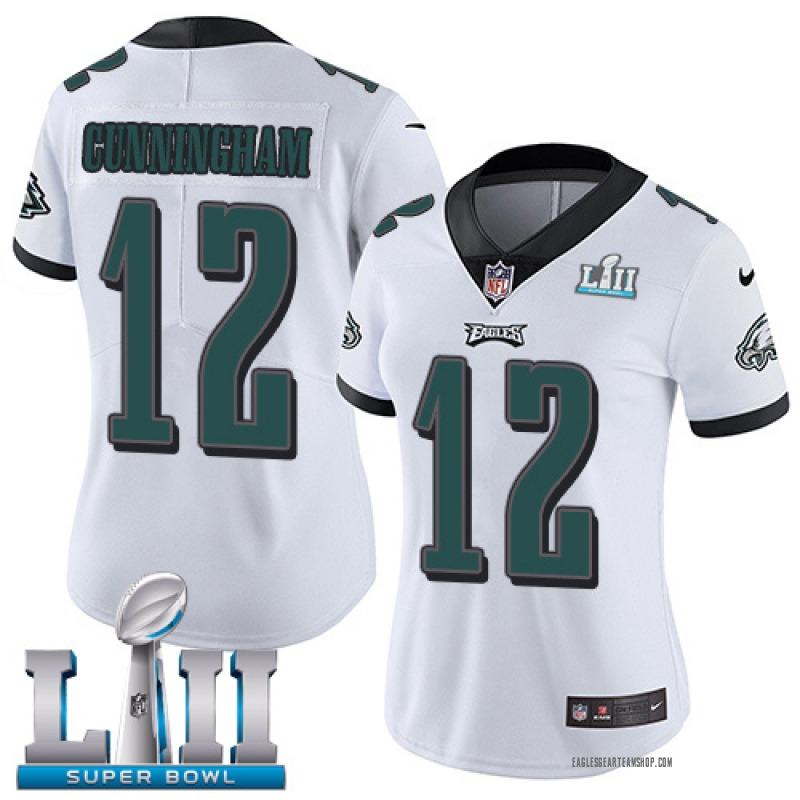 finest selection 383fd 878be Women's Nike Philadelphia Eagles Randall Cunningham White Vapor Untouchable  Player Super Bowl LII Jersey - Limited