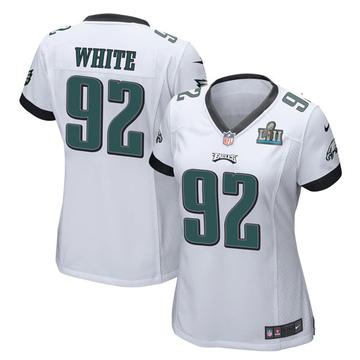Women's Nike Philadelphia Eagles Reggie White White Super Bowl LII Jersey - Game