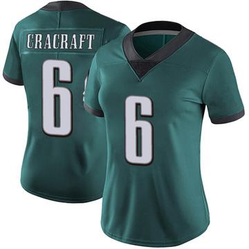 Women's Nike Philadelphia Eagles River Cracraft Green Midnight 100th Vapor Jersey - Limited