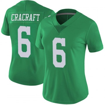 Women's Nike Philadelphia Eagles River Cracraft Green Vapor Untouchable Jersey - Limited