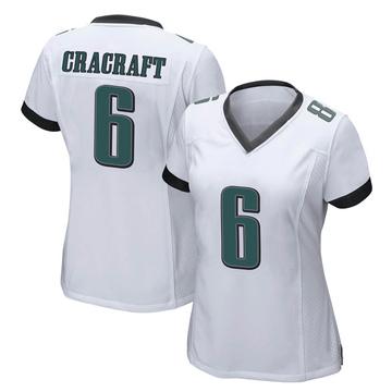Women's Nike Philadelphia Eagles River Cracraft White Jersey - Game
