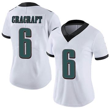 Women's Nike Philadelphia Eagles River Cracraft White Vapor Untouchable Jersey - Limited