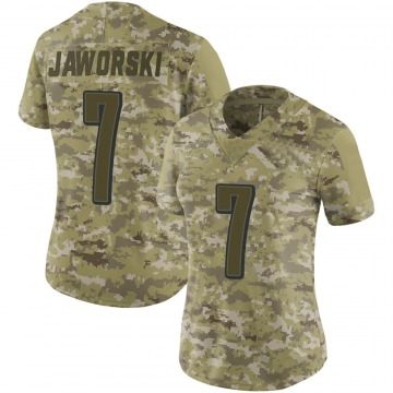 Women's Nike Philadelphia Eagles Ron Jaworski Camo 2018 Salute to Service Jersey - Limited
