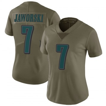 Women's Nike Philadelphia Eagles Ron Jaworski Green 2017 Salute to Service Jersey - Limited