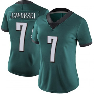 Women's Nike Philadelphia Eagles Ron Jaworski Green Midnight 100th Vapor Jersey - Limited