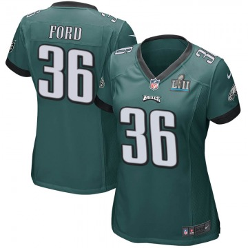Women's Nike Philadelphia Eagles Rudy Ford Green Team Color Super Bowl LII Jersey - Game