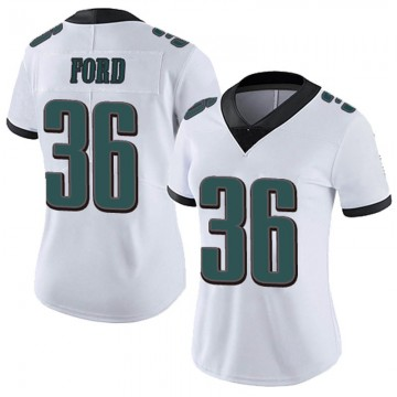 Women's Nike Philadelphia Eagles Rudy Ford White Vapor Untouchable Jersey - Limited