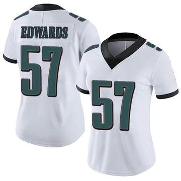 Women's Nike Philadelphia Eagles T.J. Edwards White Vapor Untouchable Jersey - Limited