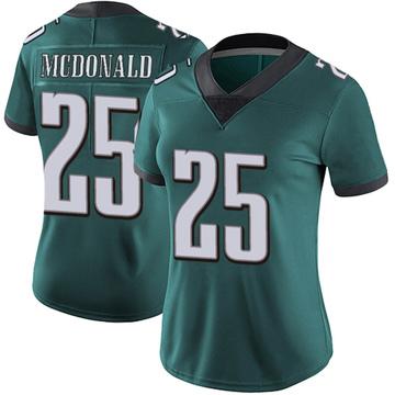 Women's Nike Philadelphia Eagles Tommy McDonald Green Midnight 100th Vapor Jersey - Limited