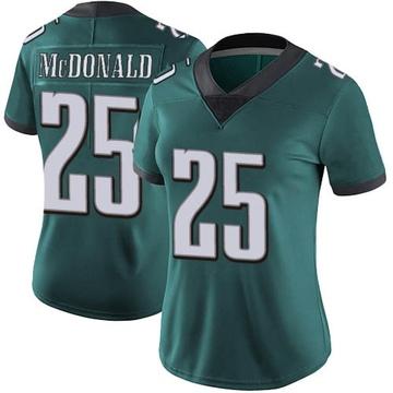 Women's Nike Philadelphia Eagles Tommy McDonald Green Midnight Team Color Vapor Untouchable Jersey - Limited