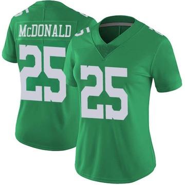 Women's Nike Philadelphia Eagles Tommy McDonald Green Vapor Untouchable Jersey - Limited