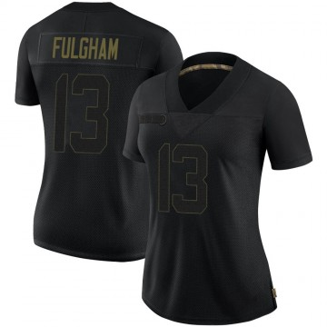 Women's Nike Philadelphia Eagles Travis Fulgham Black 2020 Salute To Service Jersey - Limited