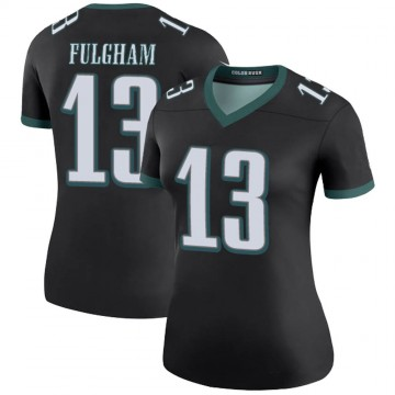 Women's Nike Philadelphia Eagles Travis Fulgham Black Color Rush Jersey - Legend