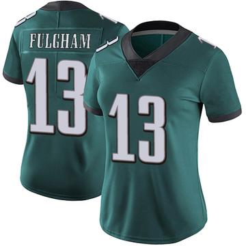 Women's Nike Philadelphia Eagles Travis Fulgham Green Midnight 100th Vapor Jersey - Limited