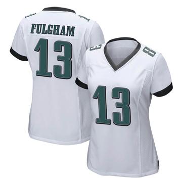 Women's Nike Philadelphia Eagles Travis Fulgham White Jersey - Game