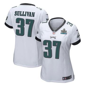 Women's Nike Philadelphia Eagles Tre Sullivan White Super Bowl LII Jersey - Game
