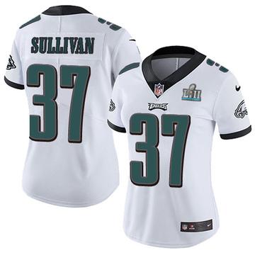Women's Nike Philadelphia Eagles Tre Sullivan White Super Bowl LII Vapor Untouchable Jersey - Limited