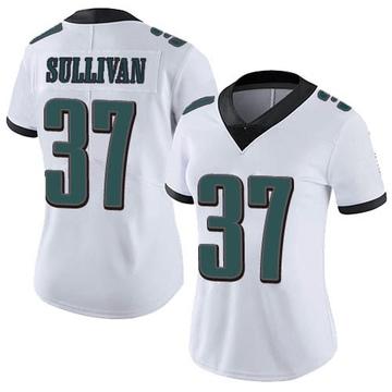 Women's Nike Philadelphia Eagles Tre Sullivan White Vapor Untouchable Jersey - Limited