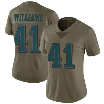 Women's Nike Philadelphia Eagles Trevor Williams Green 2017 Salute to Service Jersey - Limited