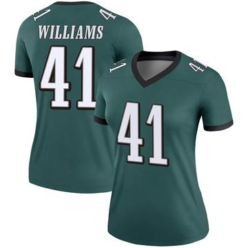 Women's Nike Philadelphia Eagles Trevor Williams Green Jersey - Legend