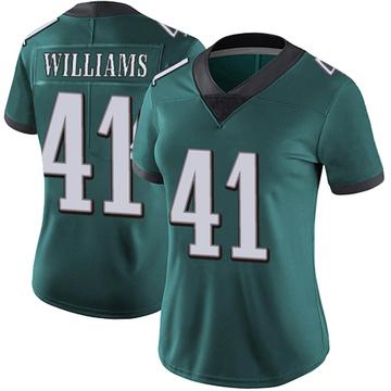Women's Nike Philadelphia Eagles Trevor Williams Green Midnight Team Color Vapor Untouchable Jersey - Limited