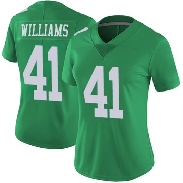 Women's Nike Philadelphia Eagles Trevor Williams Green Vapor Untouchable Jersey - Limited