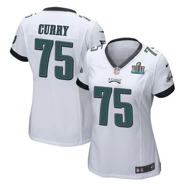 Women's Nike Philadelphia Eagles Vinny Curry White Super Bowl LII Jersey - Game
