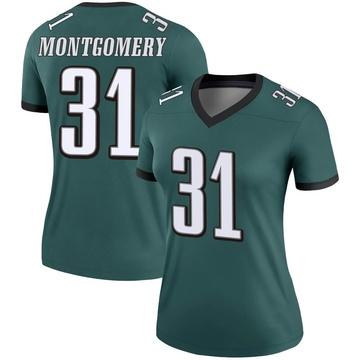 Women's Nike Philadelphia Eagles Wilbert Montgomery Green Jersey - Legend
