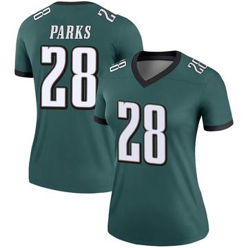 Women's Nike Philadelphia Eagles Will Parks Green Jersey - Legend