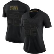 Women's Nike Philadelphia Eagles Zach Brown Black 2020 Salute To Service Jersey - Limited