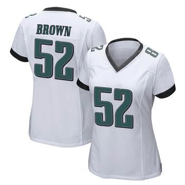 Women's Nike Philadelphia Eagles Zach Brown White Jersey - Game