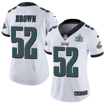 Women's Nike Philadelphia Eagles Zach Brown White Super Bowl LII Vapor Untouchable Jersey - Limited