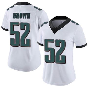 Women's Nike Philadelphia Eagles Zach Brown White Vapor Untouchable Jersey - Limited