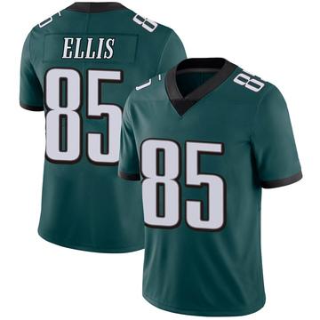 Youth Nike Philadelphia Eagles Alex Ellis Green Midnight 100th Vapor Jersey - Limited