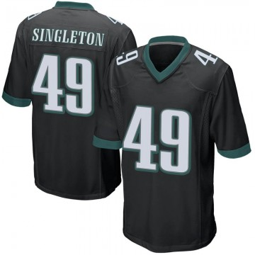 Youth Nike Philadelphia Eagles Alex Singleton Black Alternate Jersey - Game