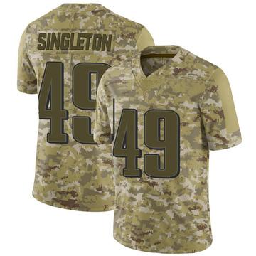 Youth Nike Philadelphia Eagles Alex Singleton Camo 2018 Salute to Service Jersey - Limited