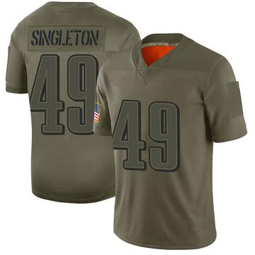 Youth Nike Philadelphia Eagles Alex Singleton Camo 2019 Salute to Service Jersey - Limited