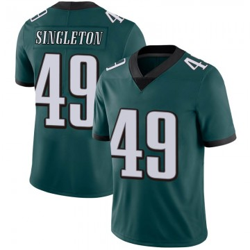 Youth Nike Philadelphia Eagles Alex Singleton Green Midnight 100th Vapor Jersey - Limited