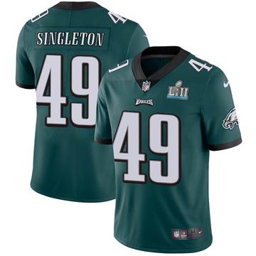 Youth Nike Philadelphia Eagles Alex Singleton Green Midnight Team Color Super Bowl LII Vapor Untouchable Jersey - Limited