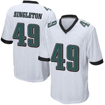 Youth Nike Philadelphia Eagles Alex Singleton White Jersey - Game